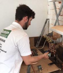 Jack Godwin's 1st solo boiler install today in Cheltenham